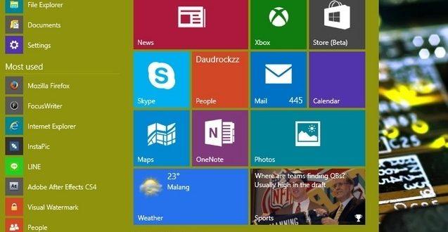 menu start windows